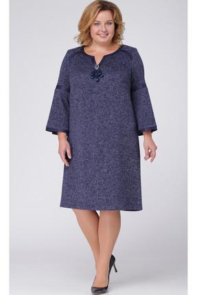 Купить Платье TricoTex Style 1851 синий, Платья, 1851, синий, 70% п/э, 25% вискоза, 5% спандекс, Мультисезон