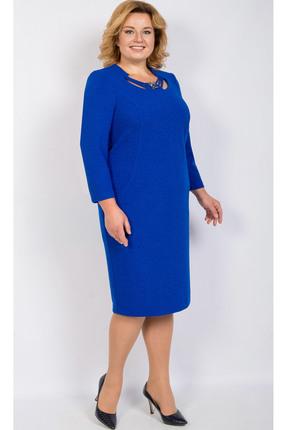 Купить Платье TricoTex Style 106-17 синий, Платья, 106-17, синий, 70% полиэстер, 25% вискоза, 5% спандекс, Мультисезон