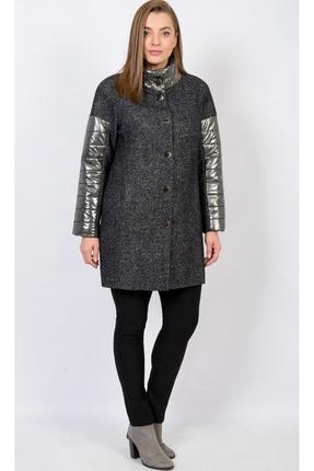 Купить Пальто TricoTex Style 25-18 темно-серые тона, Пальто, 25-18, темно-серые тона, 56% шерсть, 44% ПЭ, Мультисезон