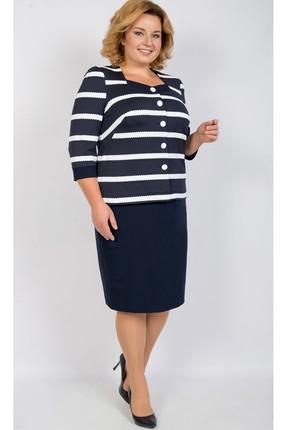 Купить Комплект юбочный TricoTex Style 24-18 синие тона, Юбочные, 24-18, синие тона, 70% п/э, 25% вискоза, 5% спандекс, Мультисезон