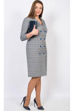 Купить Платье TricoTex Style 98-17 серые тона, Платья, 98-17, серые тона, 70% п/э, 25% вискоза, 5% спандекс, Мультисезон