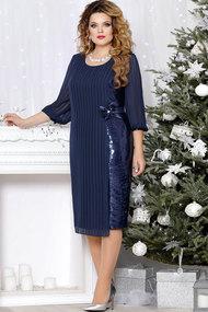 Платье Mira Fashion 4513 тёмно-синий