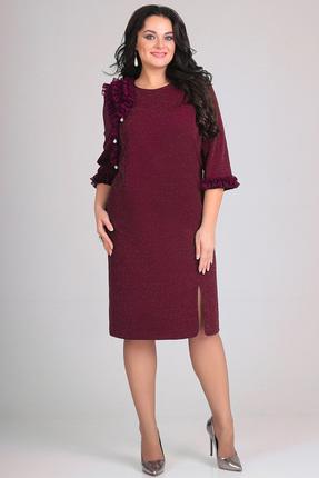 Купить Платье Andrea Style 0103 бордо, Платья, 0103, бордо, ПЭ 97 %, спандекс 3 %, Мультисезон
