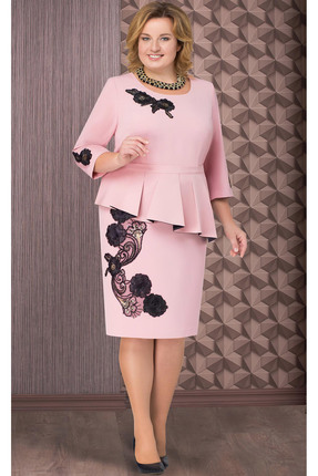 Купить Платье Aira Style 509 розовый, Платья, 509, розовый, плательная ткань (95% пэ, 5% спандекс), Мультисезон