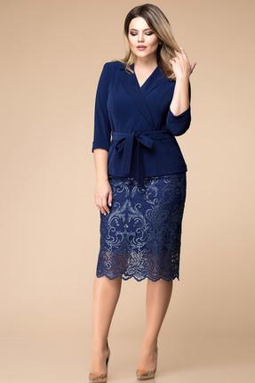 Купить Комплект юбочный Romanovich style 2-1567 синие тона, Юбочные, 2-1567, синие тона, Жакет - 96% ПЭ, 4% эластан Юбка -100% ПЭ, Мультисезон