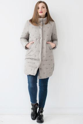 Купить Пальто ЮРС 18-920-2 светло-бежевый, Пальто, 18-920-2, светло-бежевый, полиамид 100% Тип ткани: пальтовая (стёганая)., Мультисезон