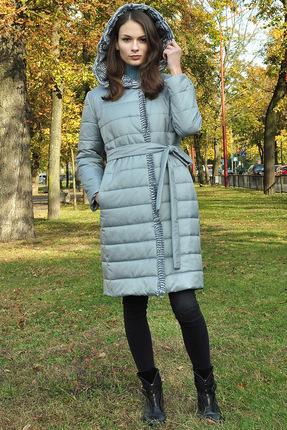 Пальто Миа Мода 949-2 серо-голубой