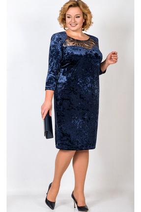 Купить Платье TricoTex Style 1783 синий, Платья, 1783, синий, 65% вискоза, 30% ПЭ, 5% спандекс, Мультисезон