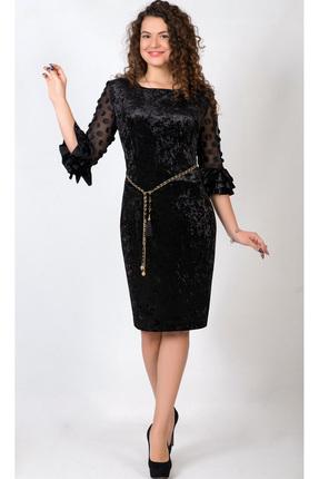 Купить Платье TricoTex Style 1781 черный, Платья, 1781, черный, 65% вискоза, 30% ПЭ, 5% спандекс, Мультисезон