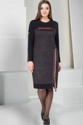 Купить Платье ТАиЕР 745 серый, Платья, 745, серый, Акрил 55%, Вискоза 30%, Полиэстер 10%, Эластан 5%, Мультисезон