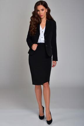 Купить Комплект юбочный Teffi style 1369 черный, Юбочные, 1369, черный, 75% ПЭ, 39% вискоза, 6% СП, Мультисезон