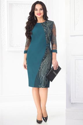 Купить Платье Лилиана 682 морская волна, Платья, 682, морская волна, Пэ-57%, вискоза - 40%, спандекс - 3%, Мультисезон