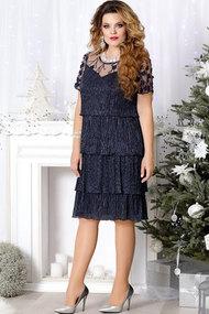 Платье Mira Fashion 4484 тёмно-синий