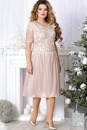Купить Платье Mira Fashion 4489 пудра , Платья, 4489, пудра , ПЭ -100%, Мультисезон