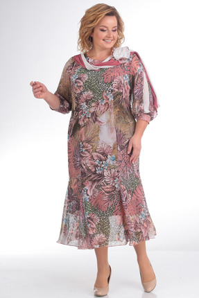 Купить Платье Pretty 792 розовые тона, Платья, 792, розовые тона, 20% вискоза 80% полиэстр, Мультисезон