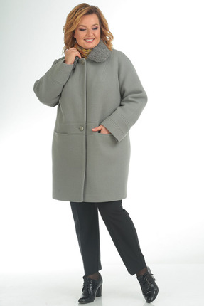 Купить Пальто Pretty 795 светло бирюзовый, Пальто, 795, светло бирюзовый, 60% шерсть 40% полиэстр, Мультисезон