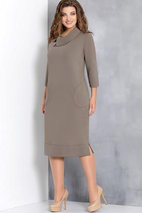 Купить Платье Olga Style с582 бежевые тона, Платья, с582, бежевые тона, вискоза 66%, пэ 32%, спандекс 2%, Мультисезон