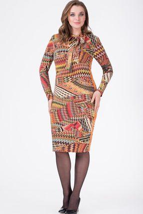 Купить Платье Svetlana Style 1137 мультиколор, Платья, 1137, мультиколор, ПЭ 95%+Спандекс 5%, Мультисезон