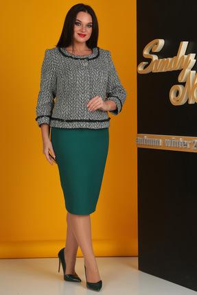 Комплект юбочный SandyNa 13500-3 зеленый