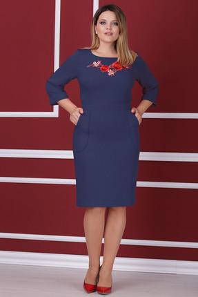 Купить Платье Michel Chic 914 синий, Платья, 914, синий, Состав : 96% полиэстер, 4% спандекс, Мультисезон