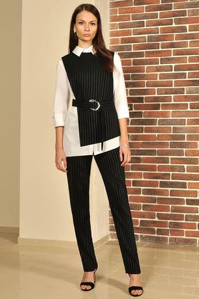 Купить Комплект брючный Миа Мода 956-1 черный, Брючные, 956-1, черный, Блузка: ХБ 97%, спандекс 3% Жилет и брюки: ПЭ 95 %, эластан 3% Подкладка ПЭ 100%, Мультисезон