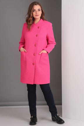 Купить Пальто Anastasia Mak 529 фуксия, Пальто, 529, фуксия, Состав: 89% ПЭ, 7% Металлик, 4% Спандекс., Мультисезон