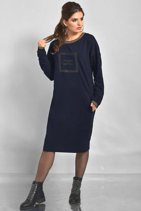 Купить Платье Faufilure с808 синий, Платья, с808, синий, полиэстер 70% вискоза 25% спандекс 5%, Мультисезон