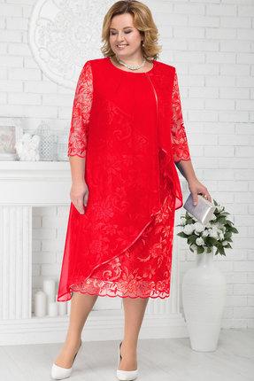 Купить Платье Ninele 5672 красный, Платья, 5672, красный, Кружево - ПЭ-100%, органза - ПЭ-100%, подкладка (атлас) - полиэстер 95%, спандекс 5%, Мультисезон