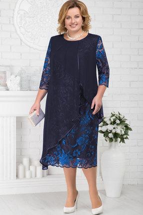 Купить Платье Ninele 5672 синий, Платья, 5672, синий, Кружево - ПЭ-100%, органза - ПЭ-100%, подкладка (атлас) - полиэстер 95%, спандекс 5%, Мультисезон