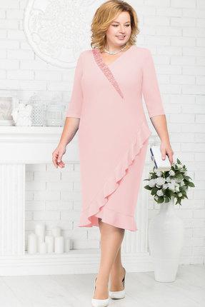 Купить Платье Ninele 7211 пудра , Платья, 7211, пудра , Полиэстер 70%, вискоза 25%, лайкра 5%, кружево - ПЭ-100%, подкладка – полиэстер 95%, спандекс 5%, Мультисезон