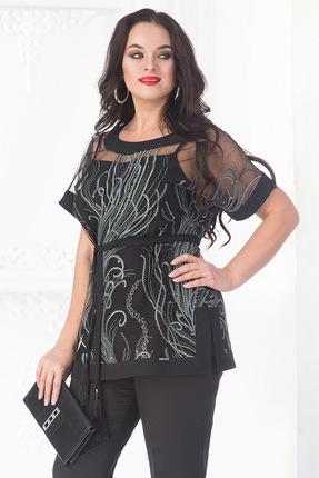 Купить Блузка Лилиана 684 черный, Блузки, 684, черный, Пэ-95, спандекс-5%, Мультисезон