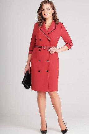 Купить Платье Асолия 2376 терракотовый, Платья, 2376, терракотовый, ПЭ - 96%, Спандекс - 4%, Мультисезон