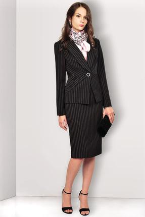 Купить Комплект юбочный Миа Мода 955-1 черный, Юбочные, 955-1, черный, ПЭ 97%, спандекс 3% Подкладка ПЭ 100%, Мультисезон