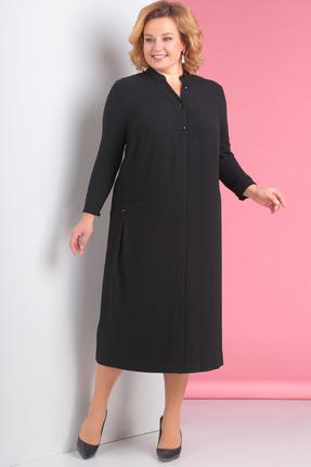 Купить Платье Новелла Шарм 3115 черный, Платья, 3115, черный, Плательная ткань с люрексной ниткой, Мультисезон