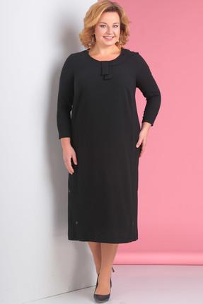 Купить Платье Новелла Шарм 3117 черный, Платья, 3117, черный, Плательная ткань с люрексной ниткой, Мультисезон