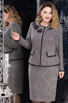 Купить со скидкой Комплект юбочный LeNata 21820-1 серый