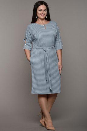 Купить Платье Lady Style Classic 1525 бледно-голубой, Платья, 1525, бледно-голубой, Вискоза 48%+ПА 46%+ПУ 6%, Мультисезон