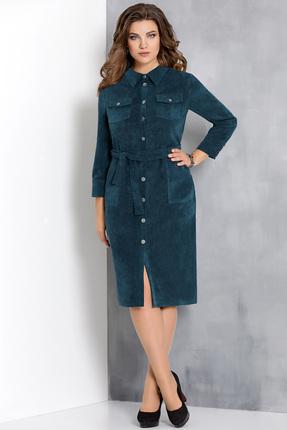 Купить Платье Olga Style с589 морская волна , Повседневные платья, с589, морская волна , пэ 65%, вискоза 32%, спандекс 3%, Мультисезон