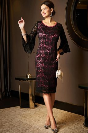 Купить Платье Lissana 3501 черный с розовым, Платья, 3501, черный с розовым, ПЭ 100%, Мультисезон