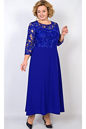 Купить Платье TricoTex Style 109-17 василек, Платья, 109-17, василек, 70% п/э, 25% вискоза, 5% спандекс, Мультисезон