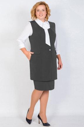 Купить Комплект юбочный TricoTex Style 9517 д графит, Юбочные, 9517 д, графит, 70% п/э, 25% вискоза, 5% спандекс, Мультисезон