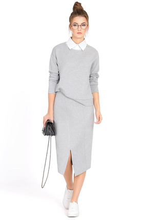 Купить Комплект юбочный PIRS 520 серый, Юбочные, 520, серый, 66% полиэстер 30% вискоза 4% эластан, Мультисезон