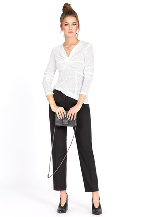 Комплект брючный PIRS 525 черный+белый, Брючные, 525, черный+белый, джемпер 70% вискоза 25% полиэстер 5% спандекс; брюки 50% полиэстер 47% вискоза 3% эластан, Мультисезон  - купить со скидкой