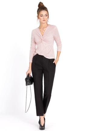 Купить Комплект брючный PIRS 525 черный+розовый, Брючные, 525, черный+розовый, джемпер 70% вискоза 25% полиэстер 5% спандекс; брюки 50% полиэстер 47% вискоза 3% эластан, Мультисезон