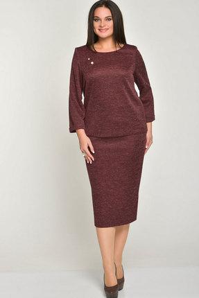 Комплект юбочный Elga 22-518 бордовый