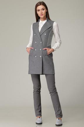 Купить Жилет Barbara Geratti 3543 серый, Жилеты, 3543, серый, Шелк/ Шерсть/ ПАН (Италия) + текстиль, Мультисезон