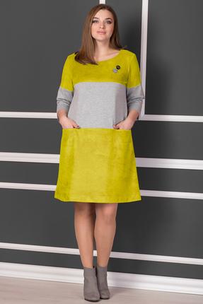 Купить Платье Michel Chic 915 горчица, Платья, 915, горчица, Состав : 80% полиэстер, 15% вискоза, 5% спандекс, Мультисезон