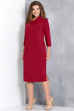Купить Платье Olga Style с582 красные тона, Платья, с582, красные тона, вискоза 66%, пэ 32%, спандекс 2%, Мультисезон