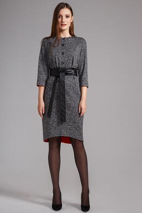 Платье Anna Majewska 1157 серый, Повседневные платья, 1157, серый, ПЭ-52%, Вискоза-46%, Эластан-2%, Мультисезон  - купить со скидкой