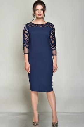 Купить Платье Faufilure с689 синий, Платья, с689, синий, Полиэстер 95%, спандекс 5%, Мультисезон